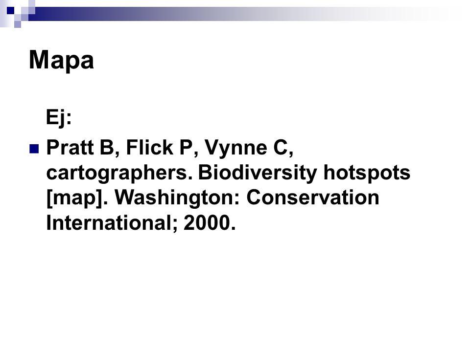 MapaEj: Pratt B, Flick P, Vynne C, cartographers.Biodiversity hotspots [map].